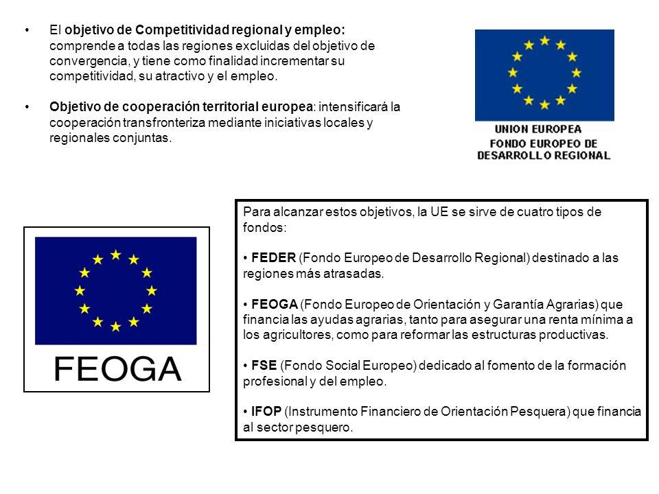 El objetivo de Competitividad regional y empleo: comprende a todas las regiones excluidas del objetivo de convergencia, y tiene como finalidad increme