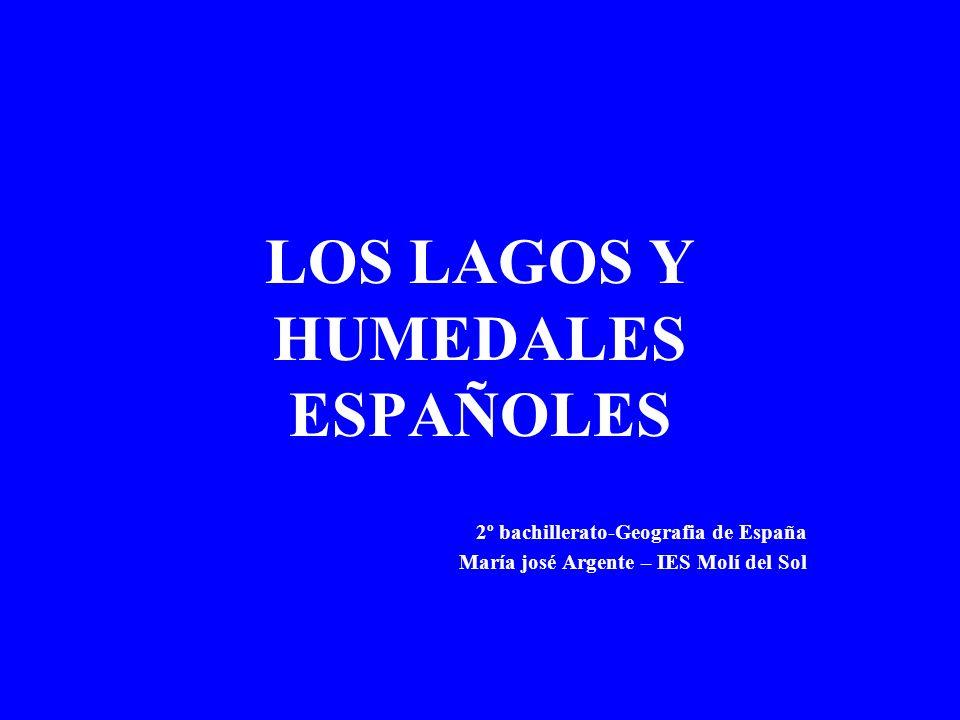 LOS LAGOS EN ESPAÑA En España no existen lagos de gran tamaño en comparación con los lagos europeos, sin embargo, debido a la diversidad de condiciones climáticas y geológicas, existen lagos de muy diversas tipologías.
