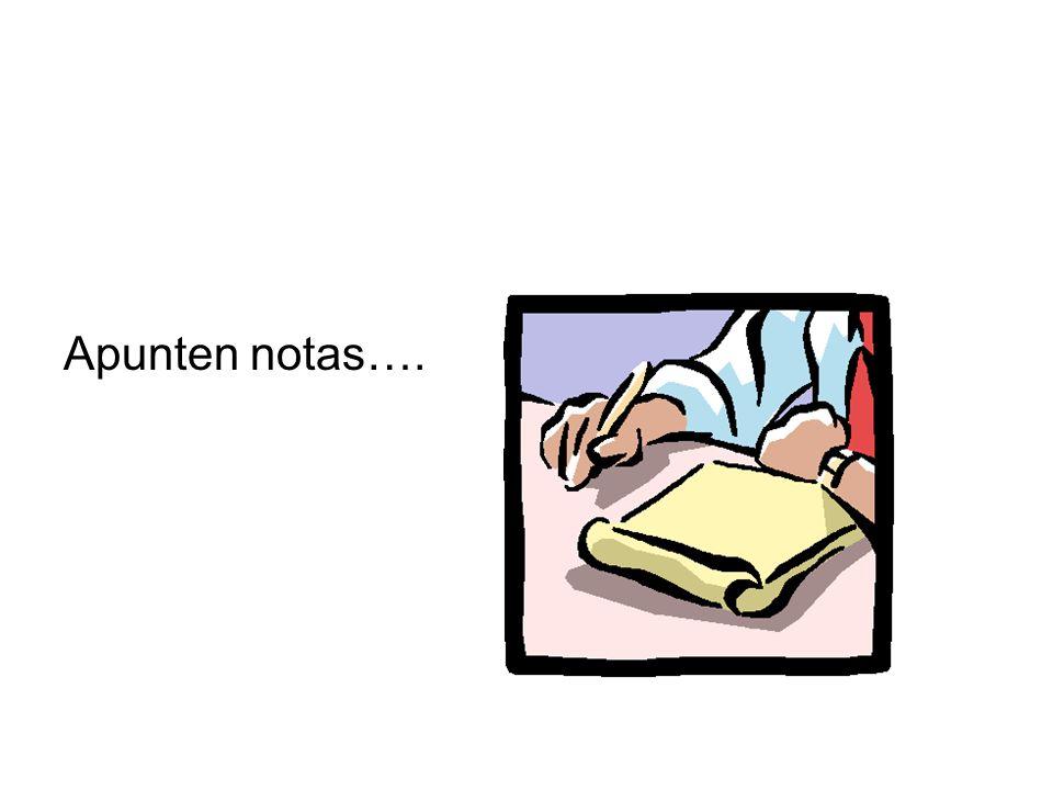 Apunten notas….