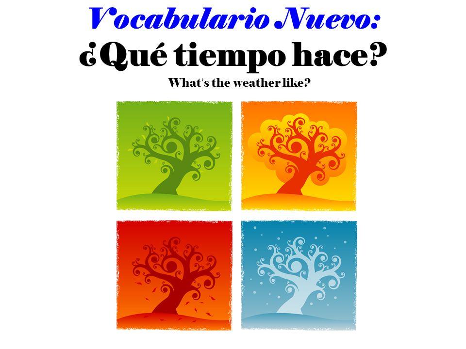 Vocabulario Nuevo: ¿Qué tiempo hace? Whats the weather like?