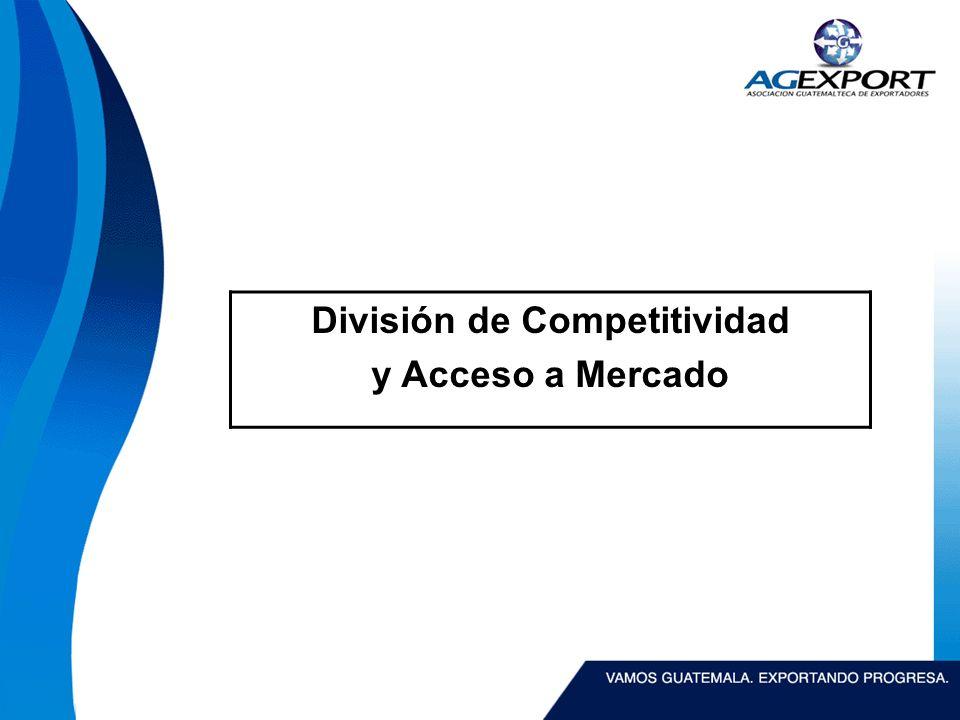 División de Competitividad y Acceso a Mercado
