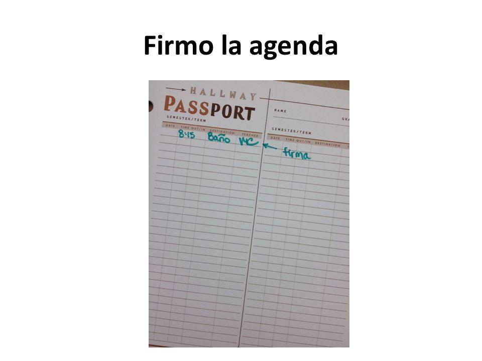 Firmo la agenda