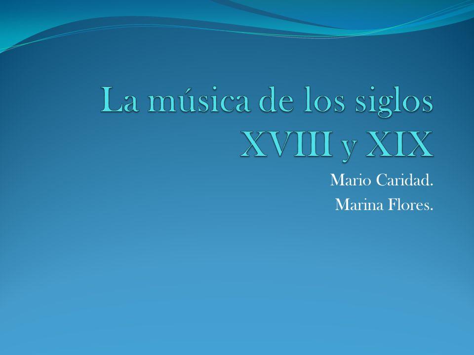 Mario Caridad. Marina Flores.