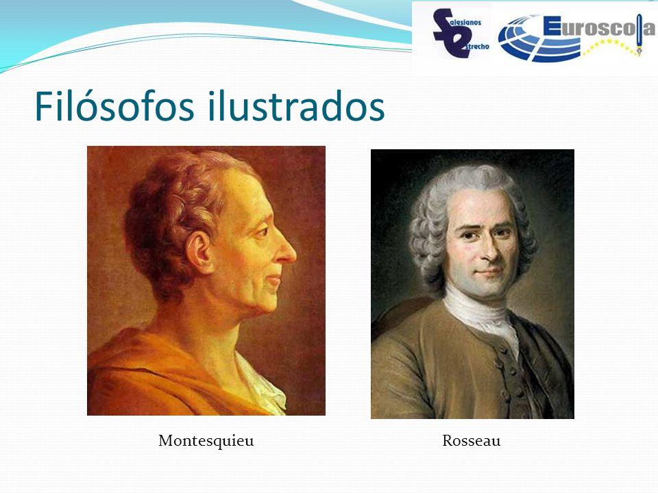 Filósofos ilustrados MontesquieuRosseau
