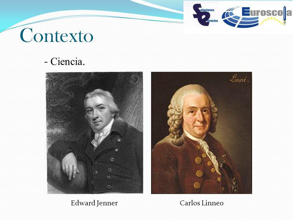 Contexto - Ciencia. Edward JennerCarlos Linneo