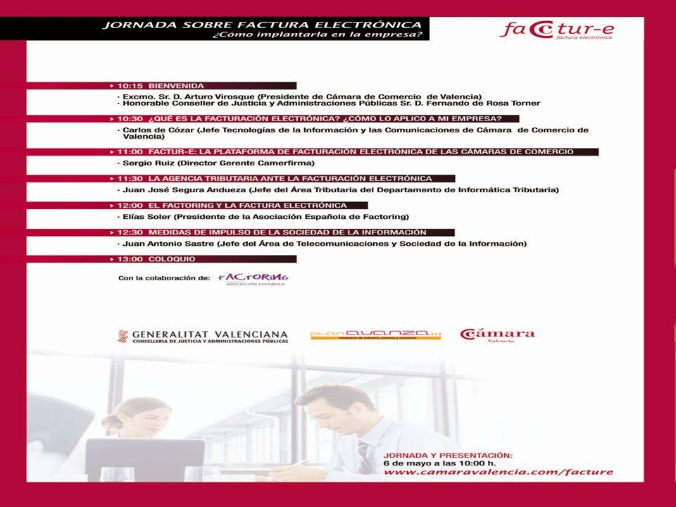 Valencia, 6 de mayo de 2008 Selección del tipo de solución: - Plataformas, servicio o software estándar de mercado - Solución propietaria - Servicio estándar con particularizaciones FACTUR-E es la solución de las Cámaras de Comercio ¿Cómo la aplico en mi empresa.
