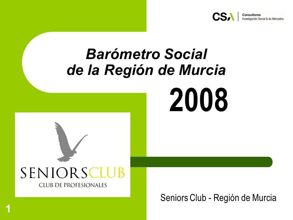 1 Barómetro Social de la Región de Murcia Seniors Club - Región de Murcia 2008
