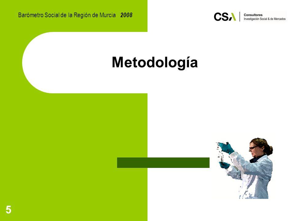 5 Metodología Barómetro Social de la Región de Murcia 2008