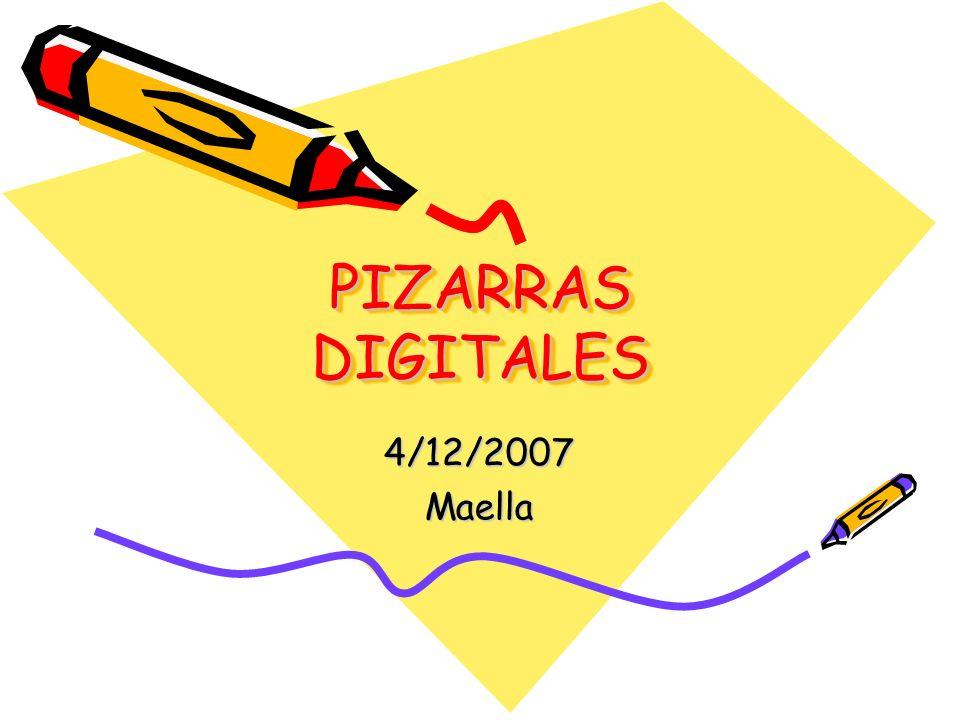 PIZARRAS DIGITALES 4/12/2007Maella