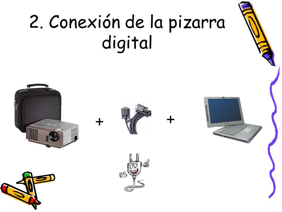 2. Conexión de la pizarra digital + +