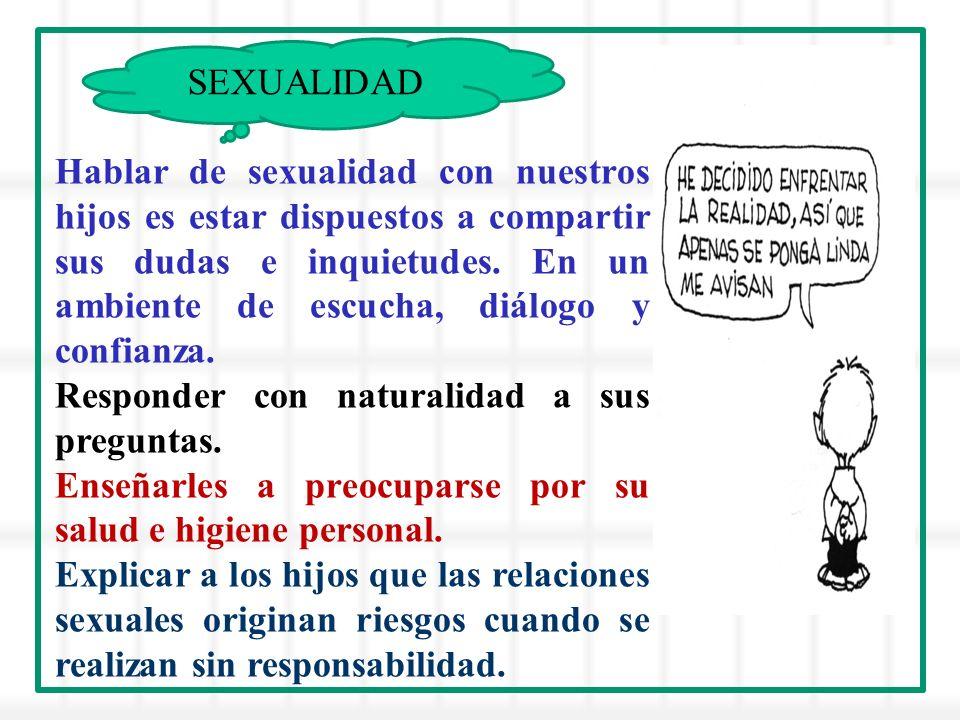 Hablar de sexualidad con nuestros hijos es estar dispuestos a compartir sus dudas e inquietudes.