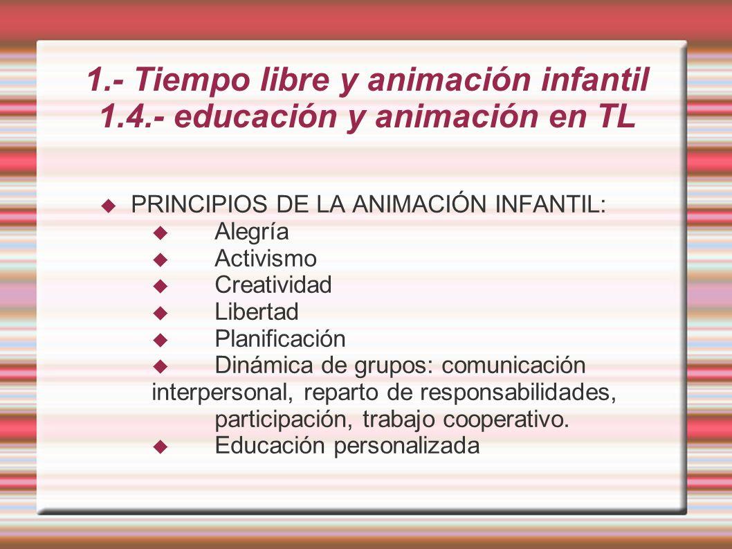 4.- Ludotecas 4.6.- MODELO DE SESIÓN: 4º- Recogida de materiales y juguetes 5º.- Despedida final