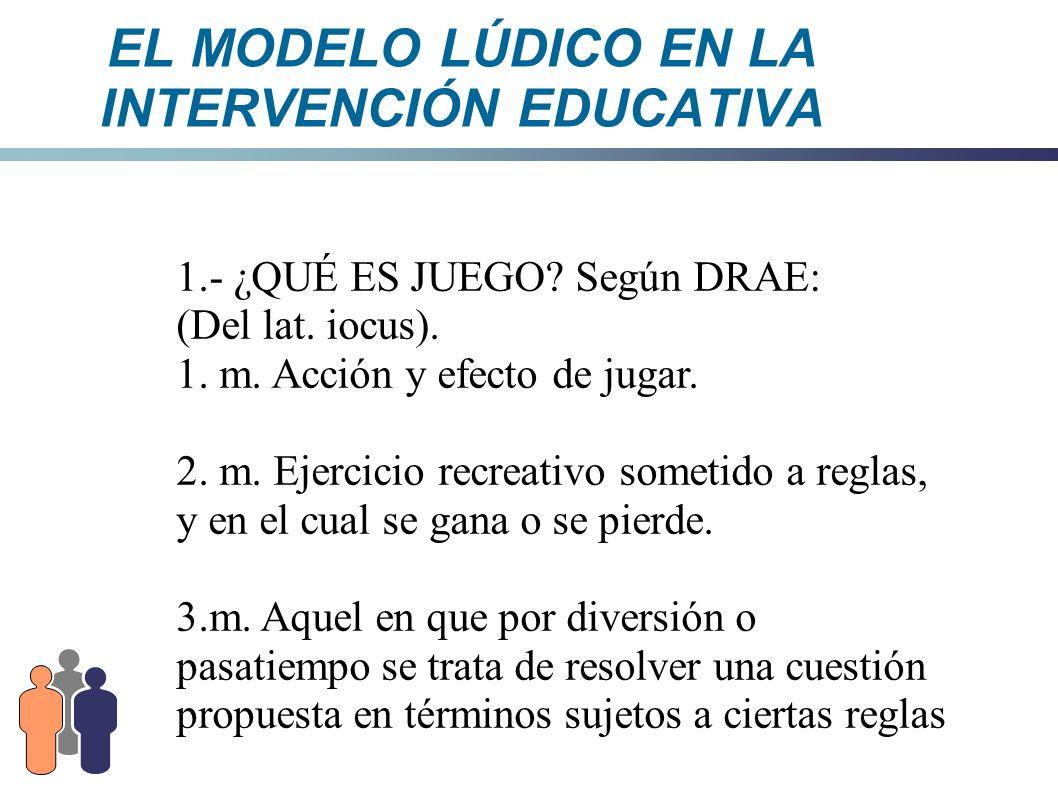 EL MODELO LÚDICO EN LA INTERVENCIÓN EDUCATIVA 5.2.3.- Psicoanalítica - Postulada por FREUD - El Juego es un medio para expresar y satisfacer necesidades.