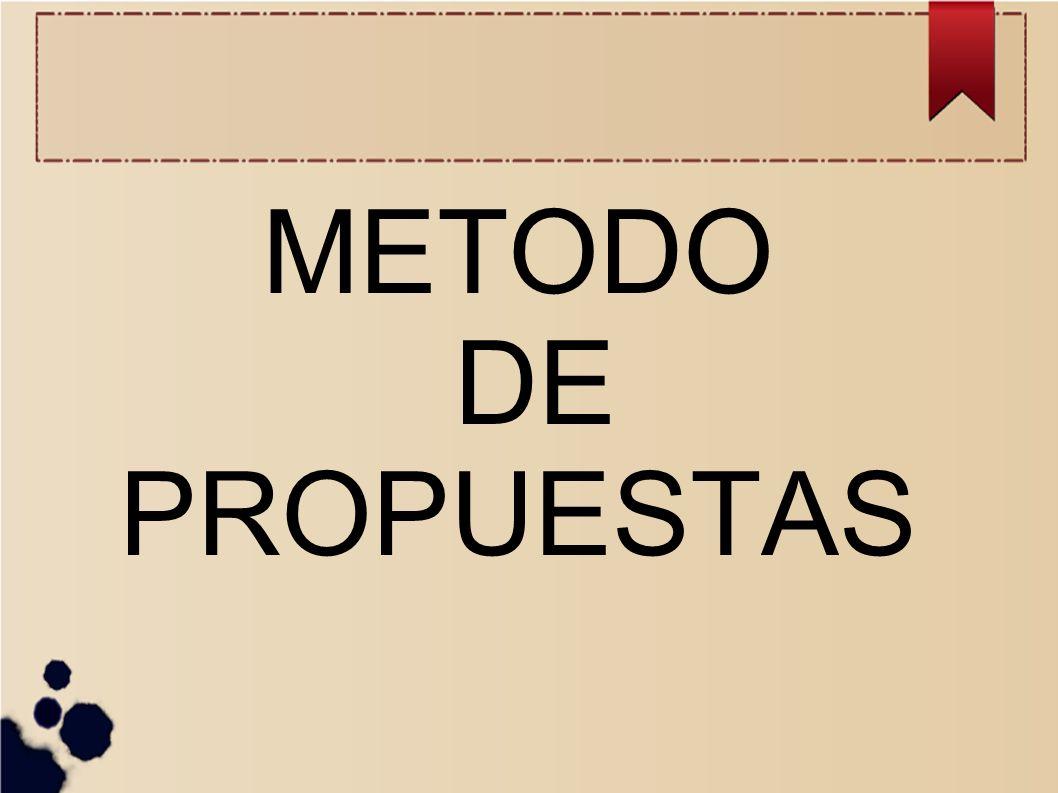 METODO DE PROPUESTAS
