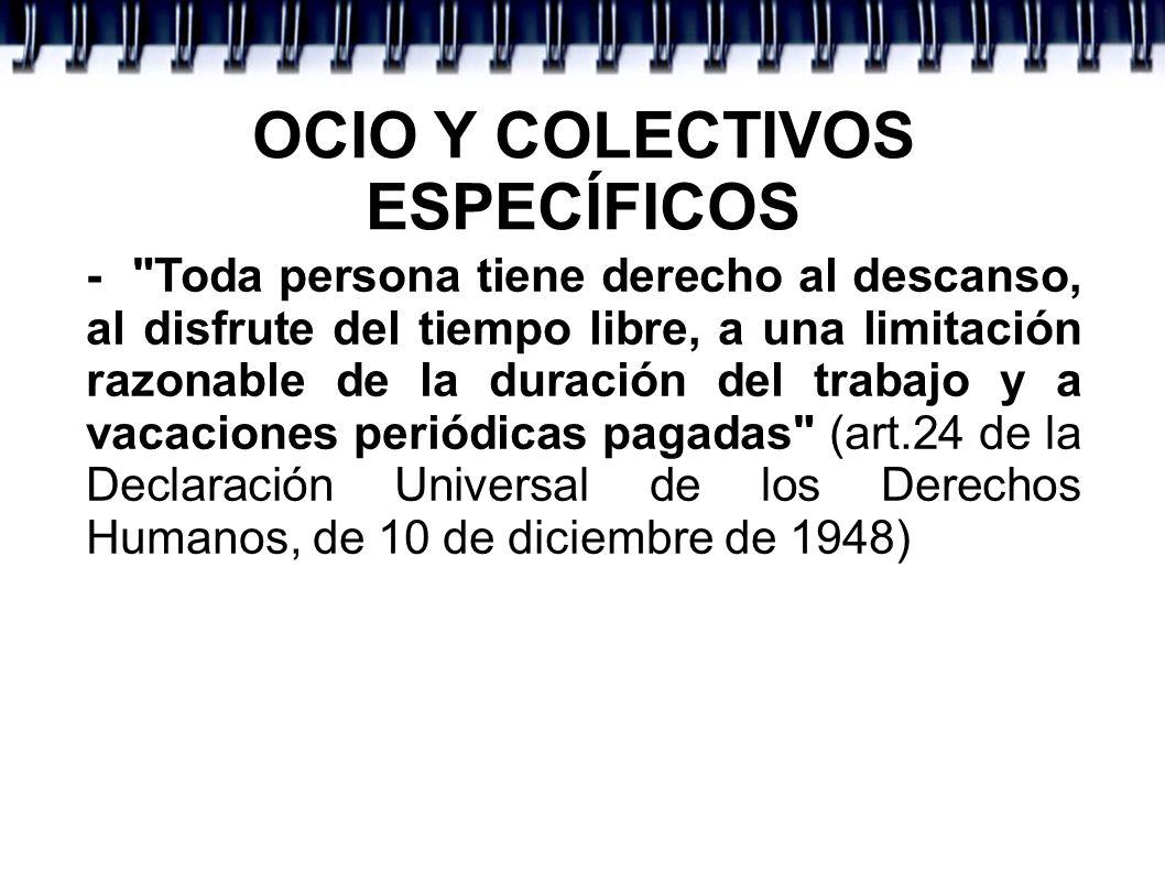 Criterios de la OCIO Y COLECTIVOS ESPECÍFICOS -
