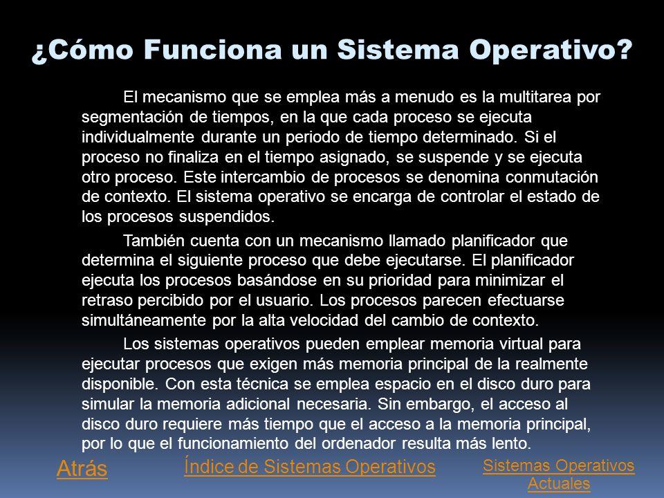 ¿Cómo Funciona un Sistema Operativo? Un proceso importante es la interpretación de los comandos que permiten al usuario comunicarse con el ordenador.