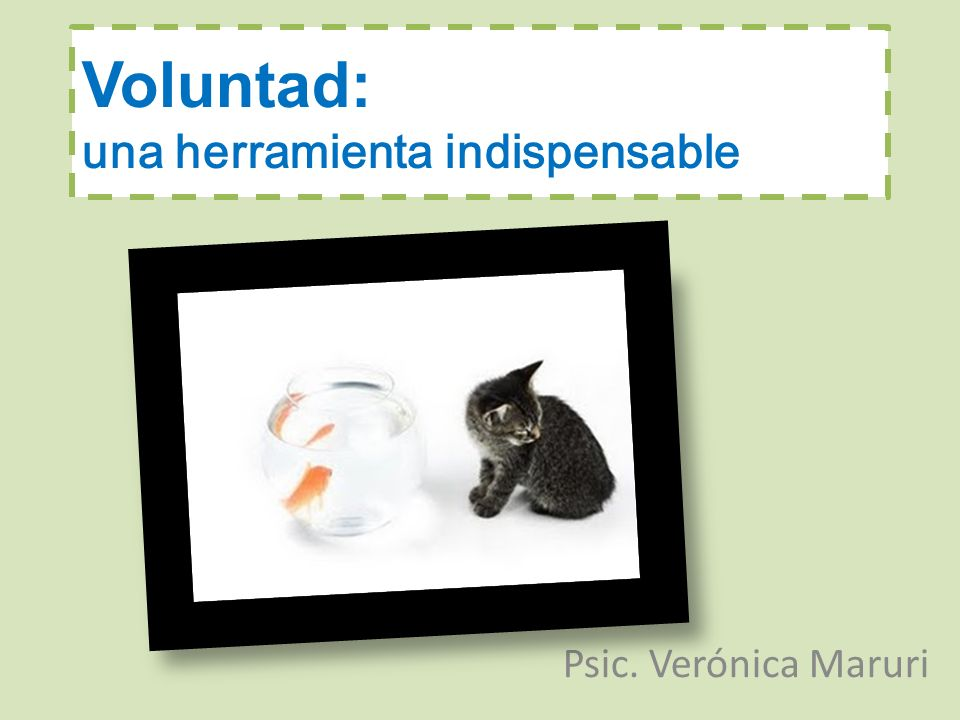 Voluntad: una herramienta indispensable Psic. Verónica Maruri
