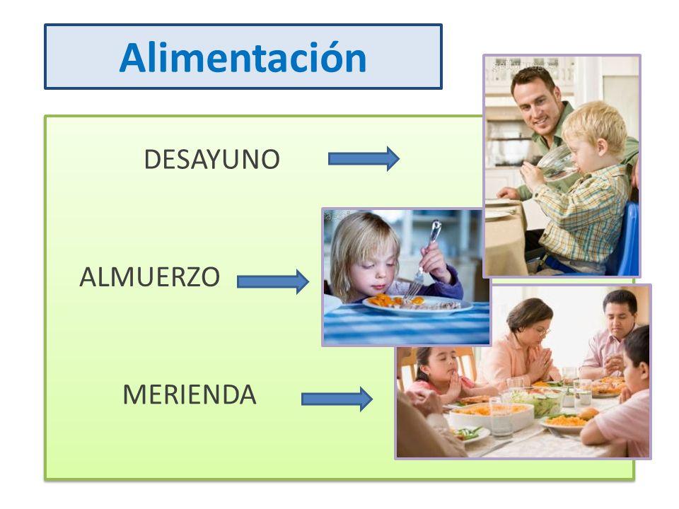 DESAYUNO ALMUERZO MERIENDA Alimentación