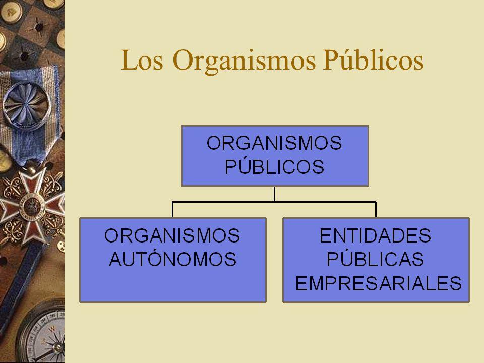 Los Organismos Públicos