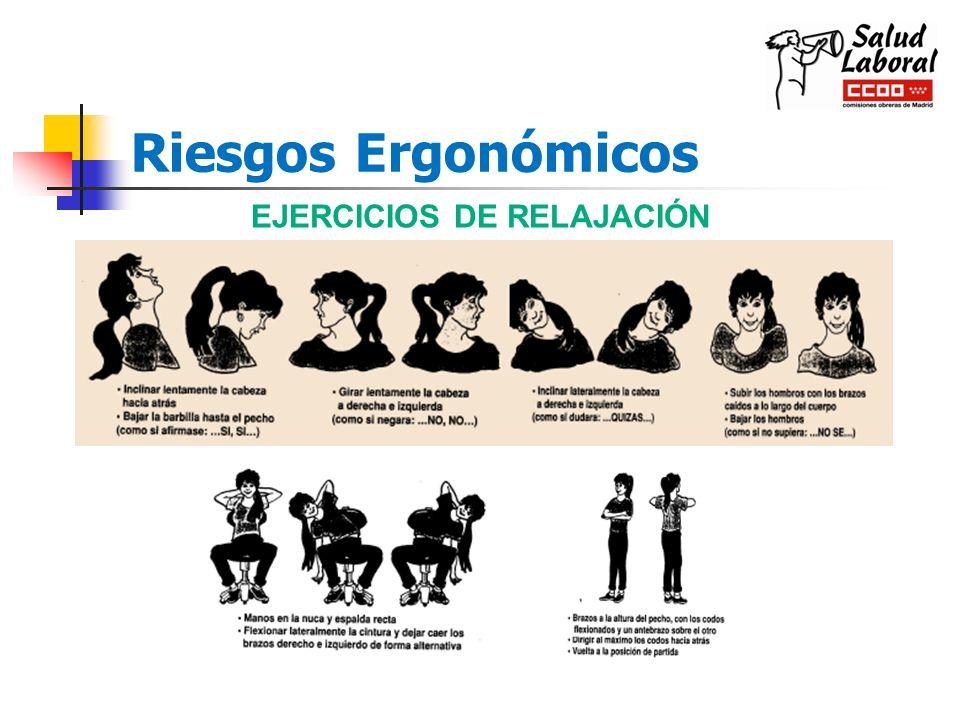 Riesgos Ergonómicos EJERCICIOS DE RELAJACIÓN