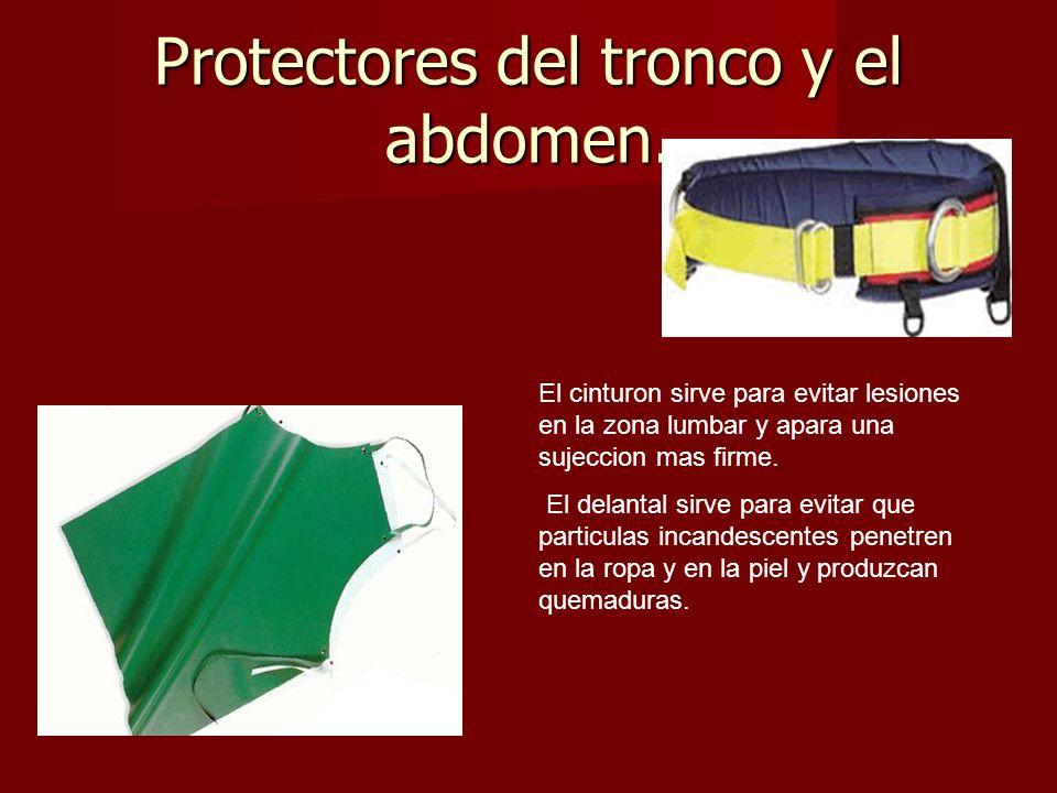 Protectores del tronco y el abdomen.