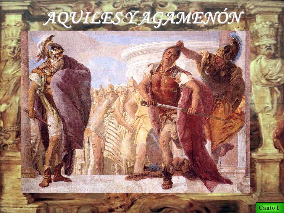 LA PESTE Crises, sacerdote de Apolo, va al campamento aqueo para rescatar a su hija, que había sido hecha cautiva y adjudicada como esclava a Agamenón