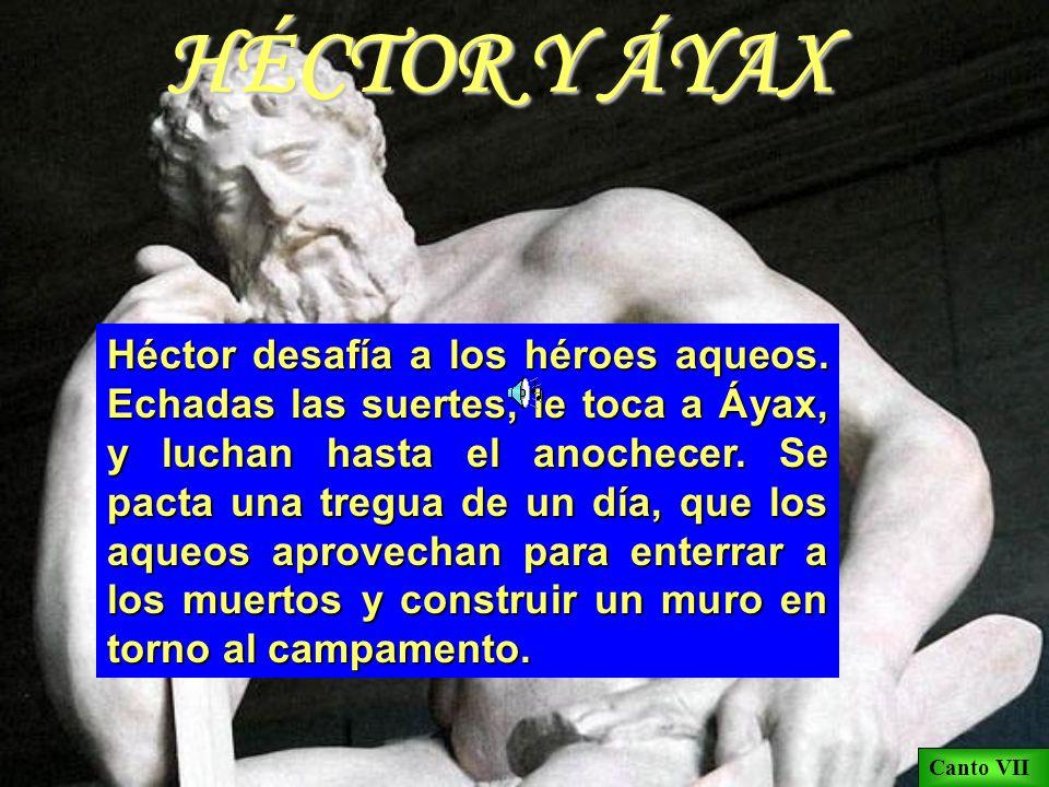 HÉCTOR Y ANDRÓMACA Contrasta el comportamiento de Héctor, héroe inocente que se sacrifica por Troya, con el de Paris, culpable y egoísta, que sólo pie