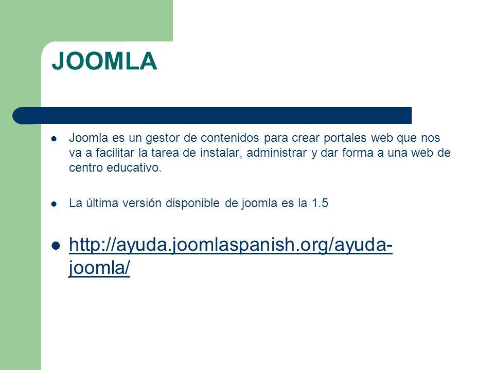 JOOMLA Joomla es un gestor de contenidos para crear portales web que nos va a facilitar la tarea de instalar, administrar y dar forma a una web de cen