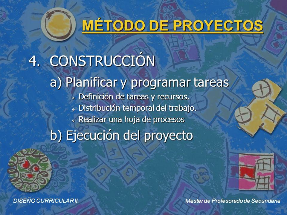 MÉTODO DE PROYECTOS 5.EVALUACIÓN a) Validación del resultado ¿Resuelve el problema.