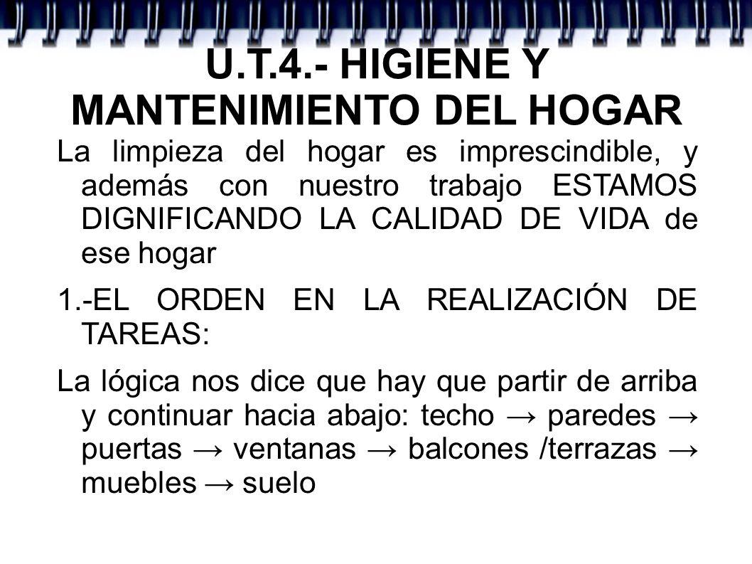 U.T.4.- HIGIENE HOGAR 3º.- EQUIPO BÁSICO DE LIMPIEZA - Plumeros: para superficies delicadas y de difícil acceso.