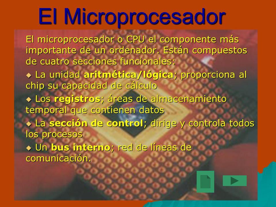 La evolución de los microprocesadores ha sido enorme.