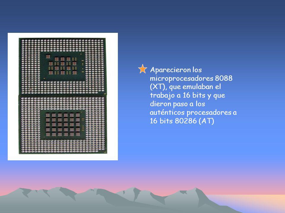 Posteriormente llegaron los 80386, basados en la tecnología de 32 bits.
