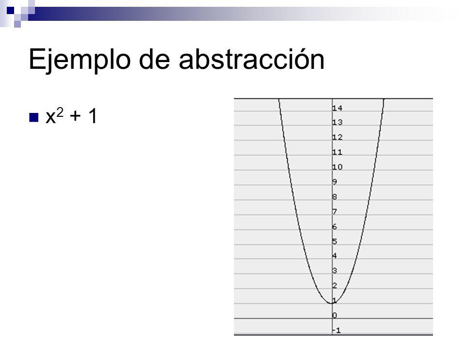 Ejemplo de abstracción x 2 + 1