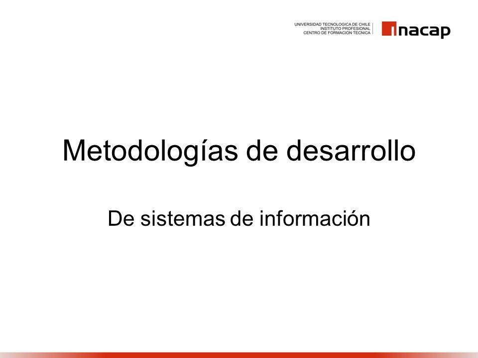 Metodologías de desarrollo De sistemas de información