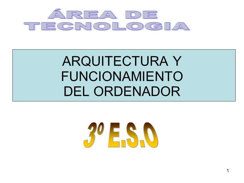 1 ARQUITECTURA Y FUNCIONAMIENTO DEL ORDENADOR