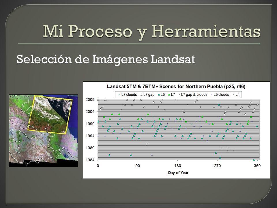 Selección de Imágenes Landsat