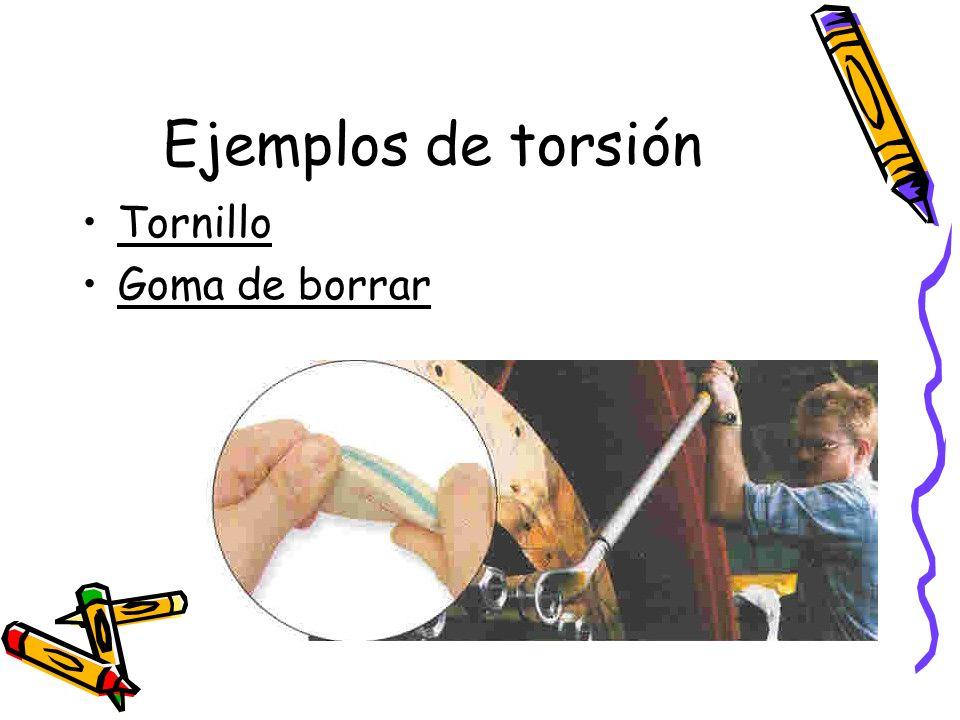 Ejemplos de torsión Tornillo Goma de borrar