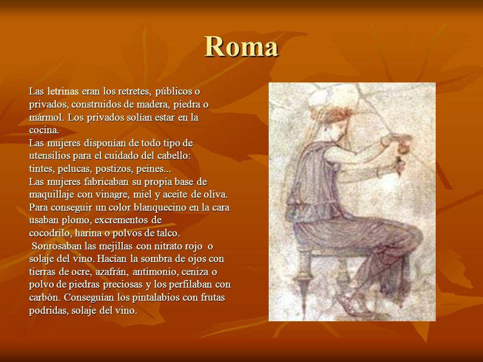 Roma Las eran los retretes, públicos o Las letrinas eran los retretes, públicos o privados, construidos de madera, piedra o mármol. Los privados solía