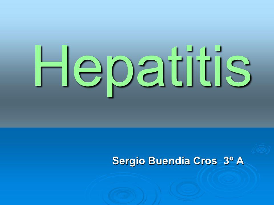 Hepatitis Sergio Buendía Cros 3º A