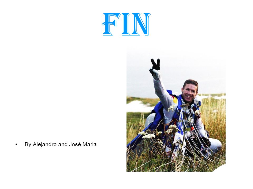 fin By Alejandro and José Maria.