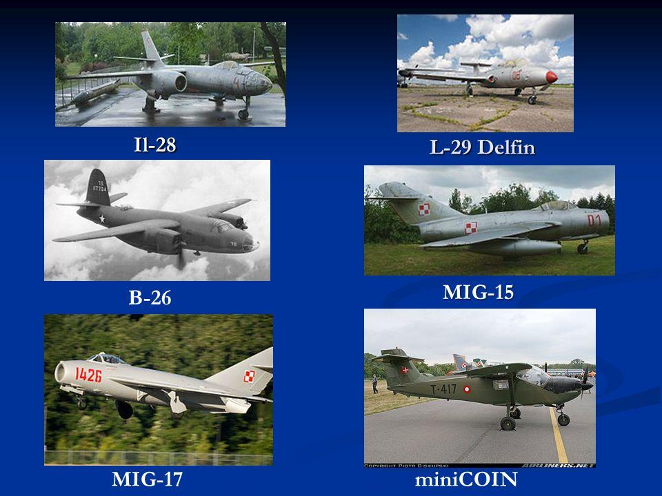 L-29 Delfin Il-28 MIG-17miniCOIN MIG-15 B-26