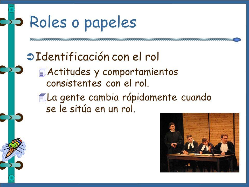 Roles o papeles 4El mundo es un escenario, y todos los hombres y mujeres son actores Shakespeare En los grupos, cada miembro es un actor, con su papel