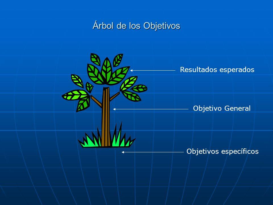 Árbol de los Objetivos Objetivos específicos Objetivo General Resultados esperados