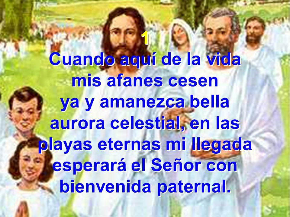 Coro He de conocerle entonces redimido, a su lado cuando esté por las señas de los clavos en su manos a Jesús conoceré.