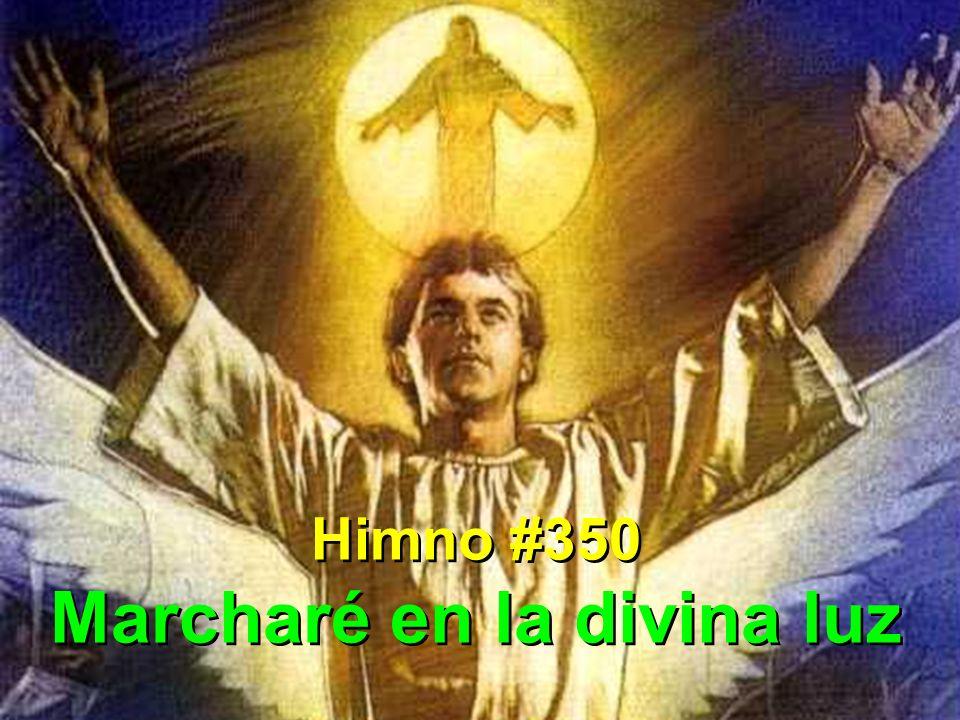 1 Marcharé en la divina luz, marcharé, siempre marcharé.