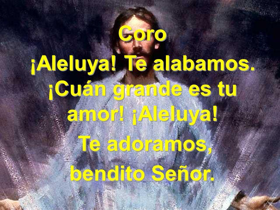 3 Te damos loor, santo Consolador, que nos llenas de gozo y santo valor.