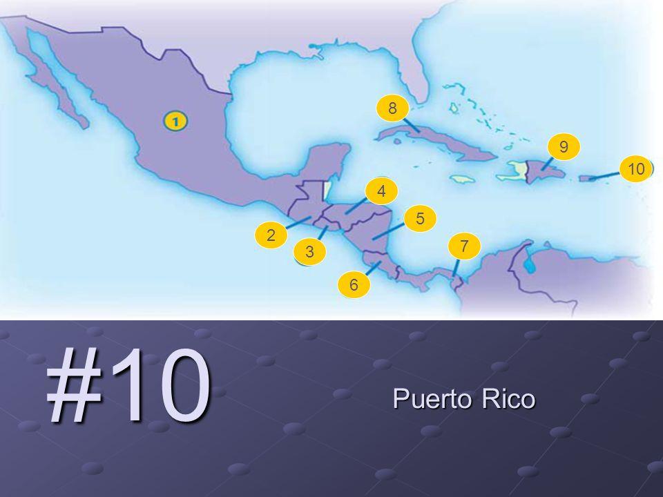 #10 Puerto Rico 2 3 4 5 6 7 8 9 10