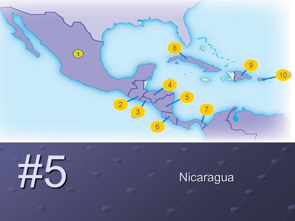 #5 Nicaragua 2 3 4 5 6 7 8 9