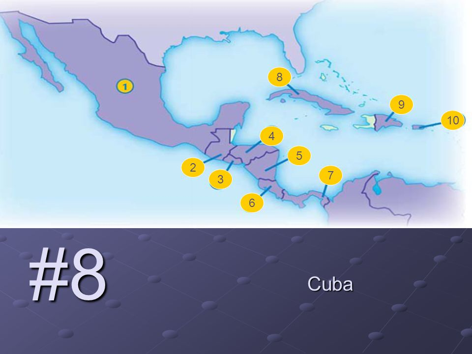 #8 Cuba 2 3 4 5 6 7 8 9
