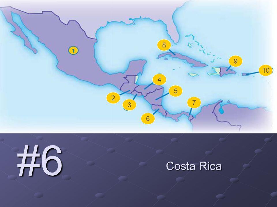 #6 Costa Rica 2 3 4 5 6 7 8 9 10